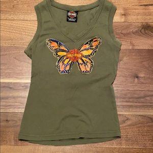 Las Vegas Harley butterfly tank